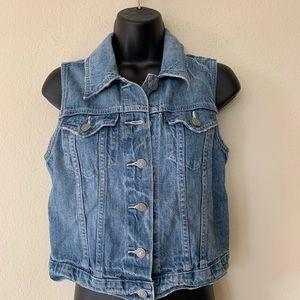 Levi's Jeans Medium Light Wash Denim Vest Small